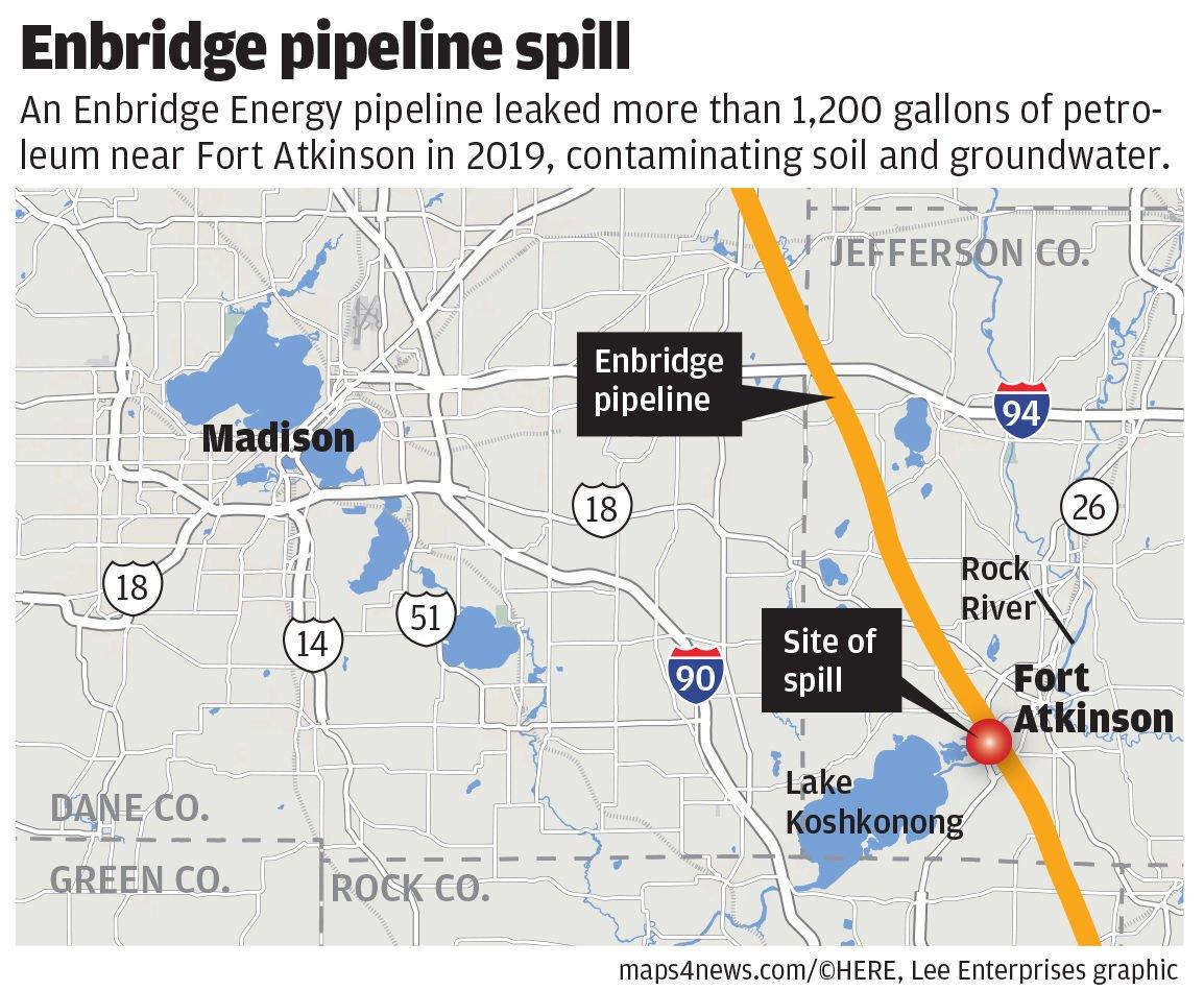 Enbridge spill map