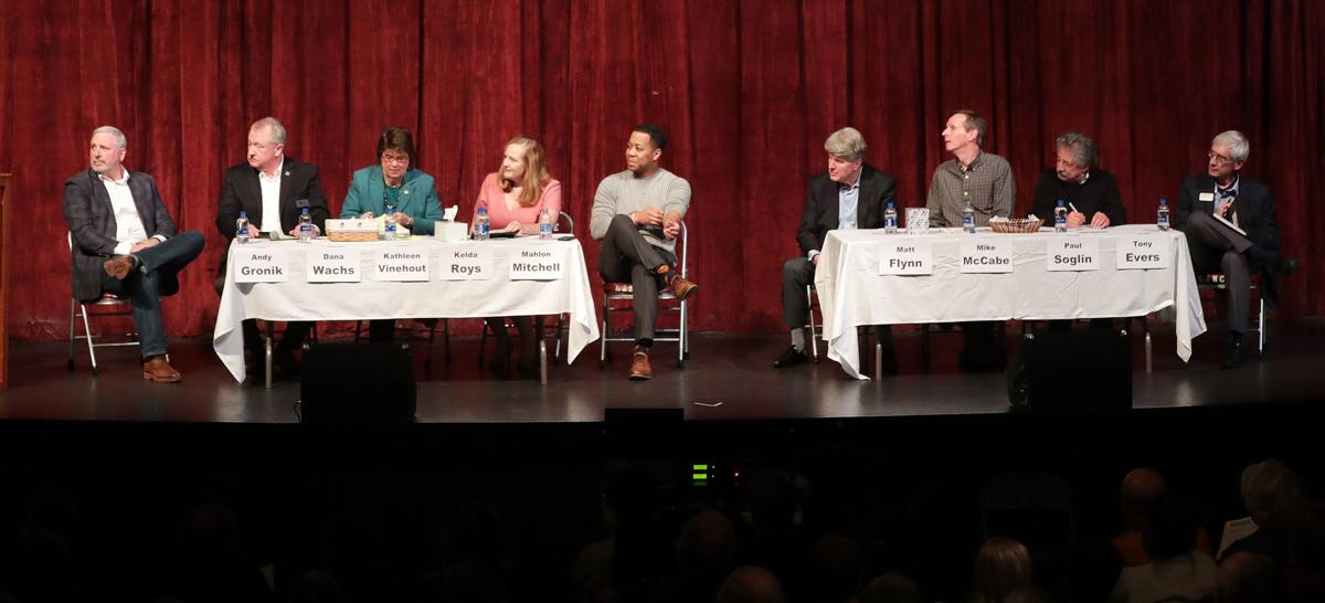9 Democratic candidates at forum, State Journal photo