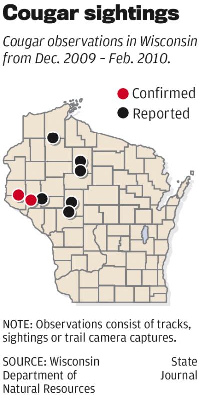 Cougar Sightings Map