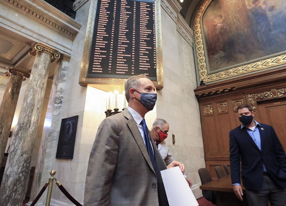 Robin Vos arrives at Capitol