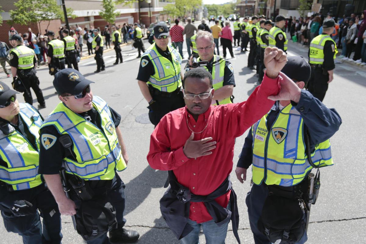 Robinson protester arrested