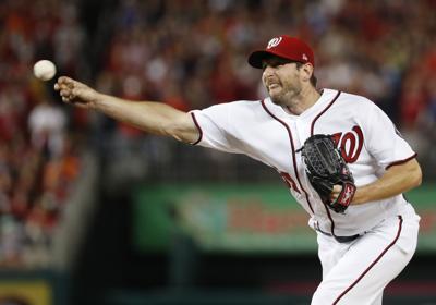 Max Scherzer pitches 2017, AP photo