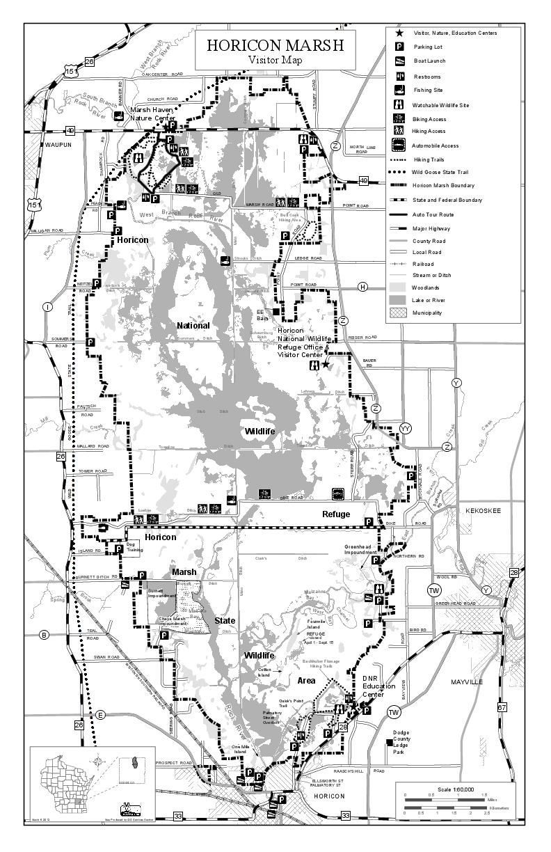 Horicon Marsh visitor map