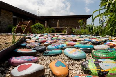 Glenn Stephens Elementary School rock garden
