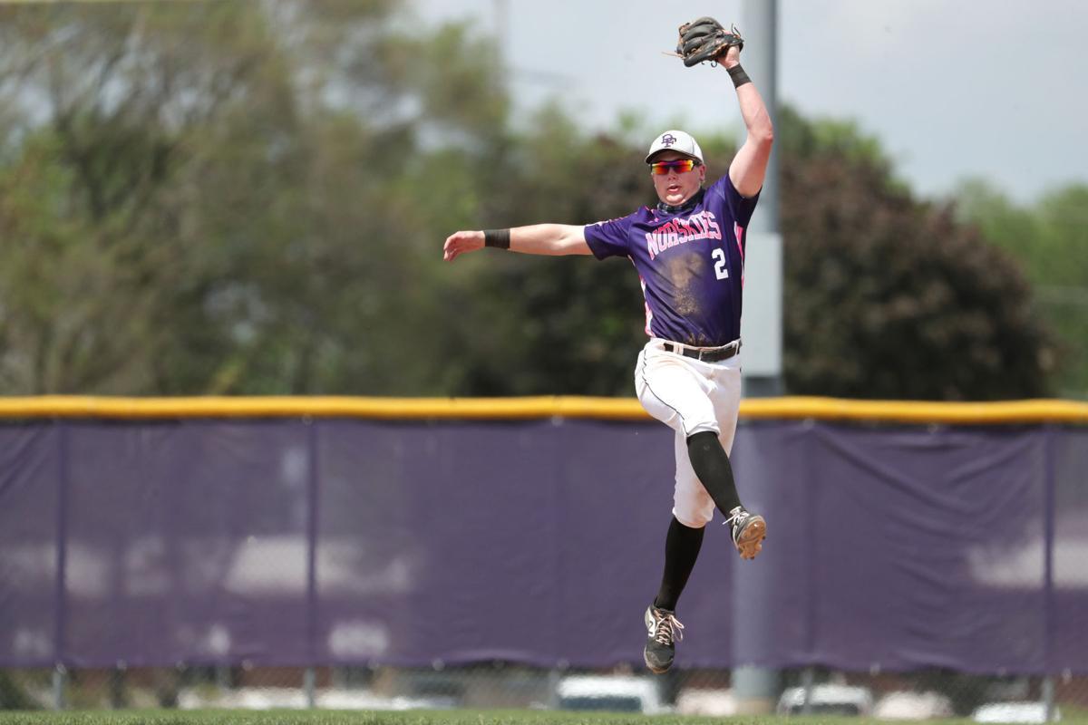 Prep baseball photo: DeForest's Mason Kirchberg catches a line drive