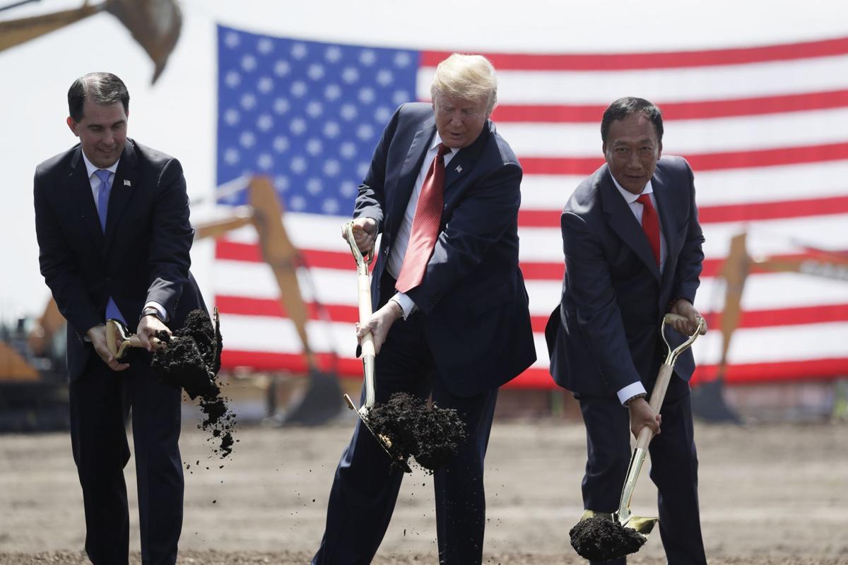 Walker and Trump break ground for Foxconn plant