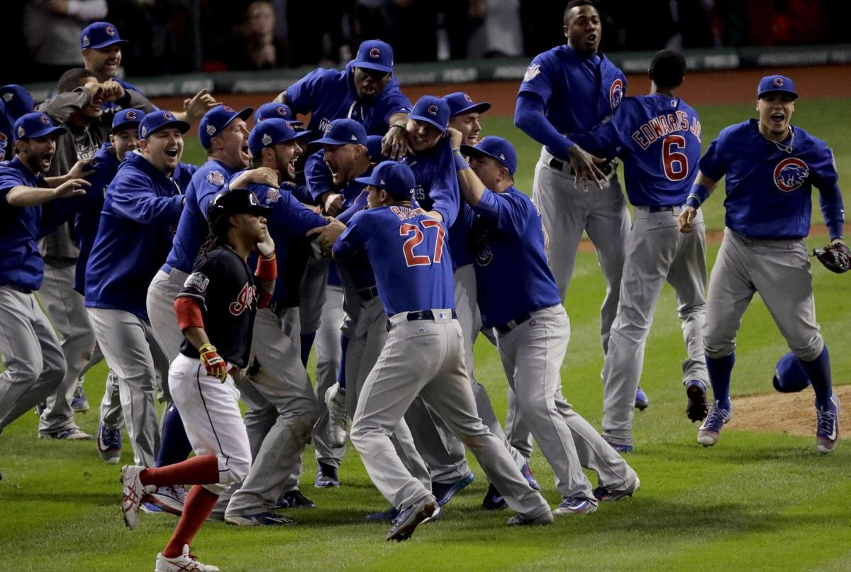 Cubs celebrate World Series win, AP photo