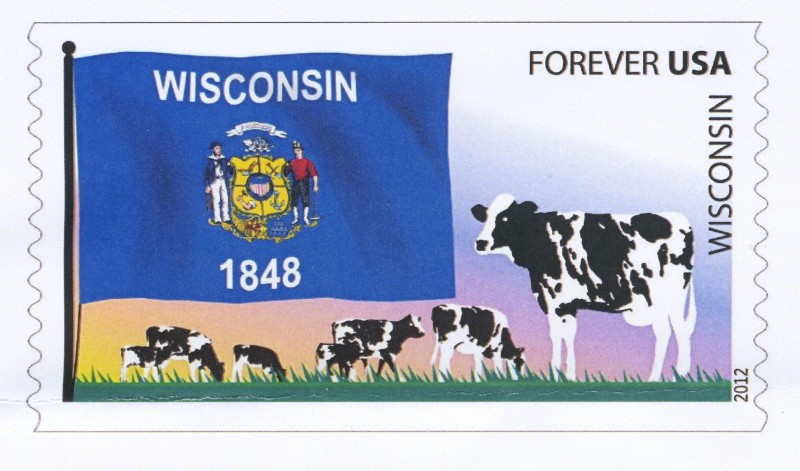 Flags Of Our Nation Wisconsin Stamp Detail