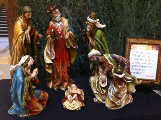Nativity scene at state Capitol by Wisconsin Family Action