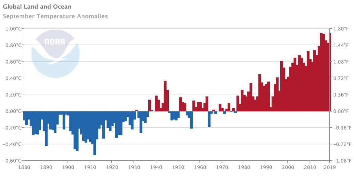 Global temperature anomolies
