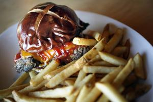 5100 Bar and Grill, bacon-braised short-rib sloppy joe with fries