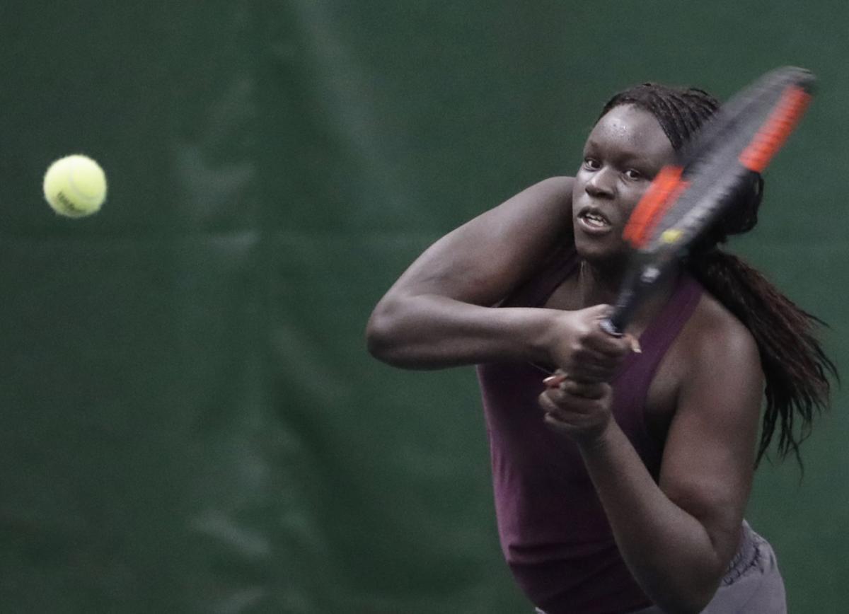 WIAA girls tennis photo: Madison Edgewood's Baluck Deang