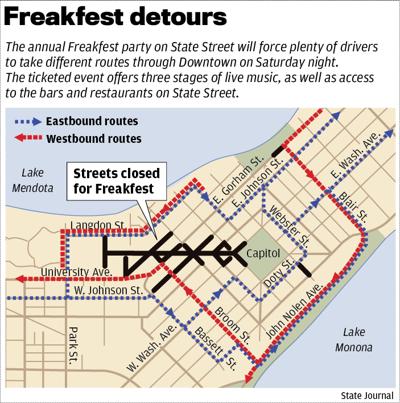 Freakfest 2018 traffic map