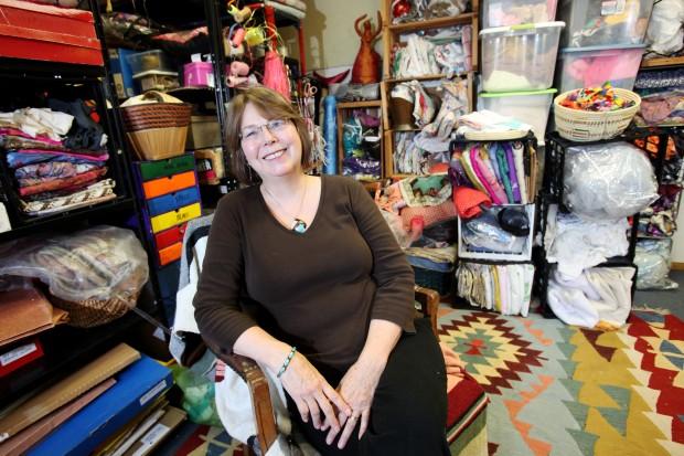 Leslee Nelson in her studio