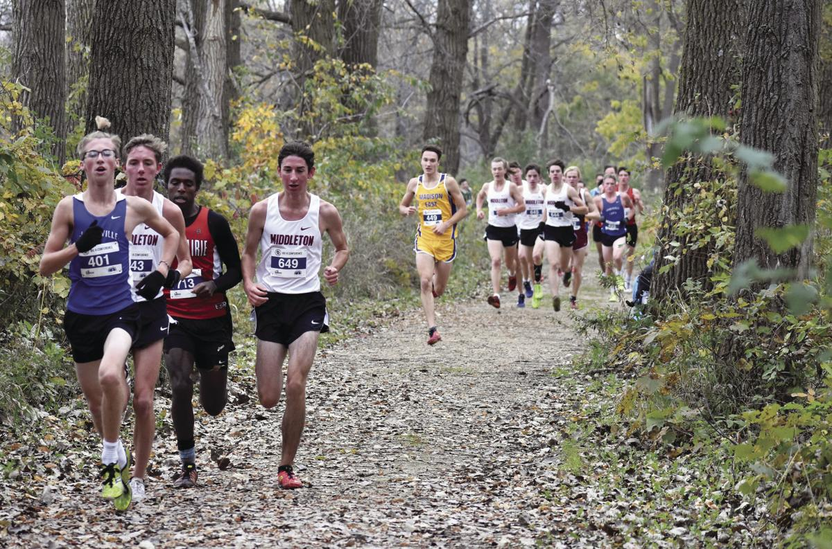 Prep boys cross country photo: Runners hit the trail for Big Eight Conference meet