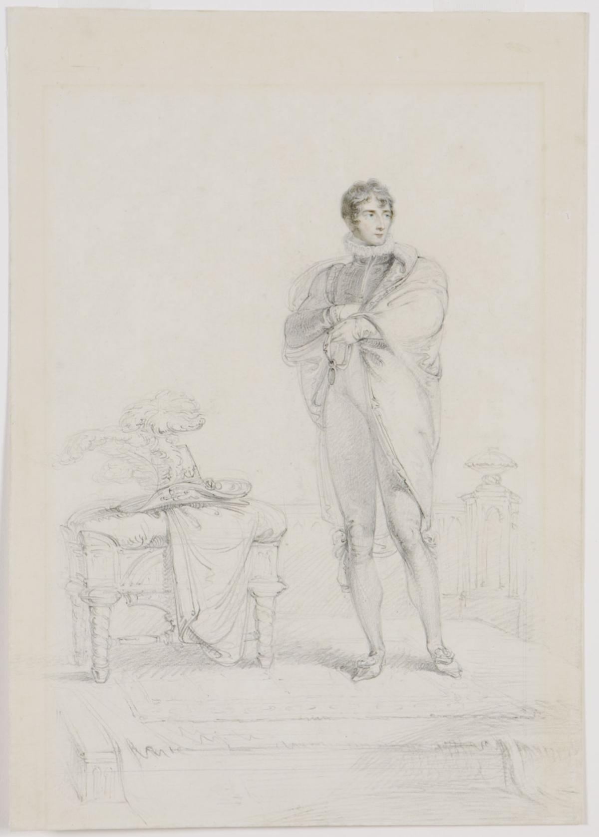 """Portrait of John Philip Kemble (1757-1823) as Hamlet"""