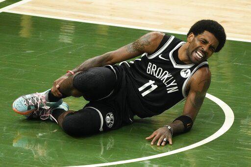 Kyrie Irving injured, AP photo