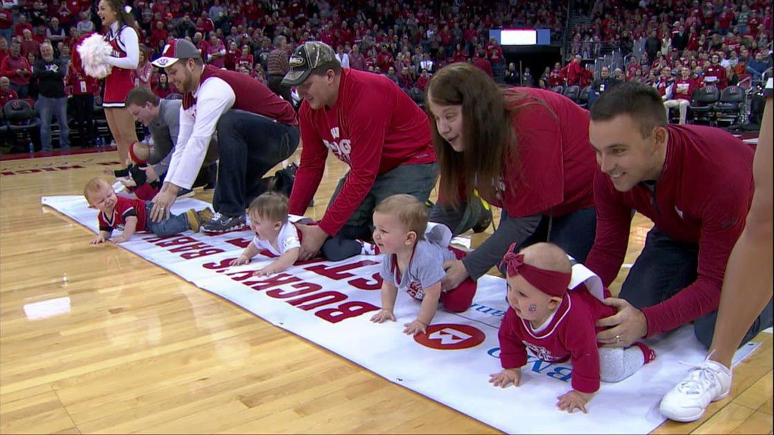 Video: Halftime baby race at Badgers men's basketball game