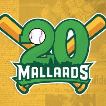 Mallards' 20th season logo