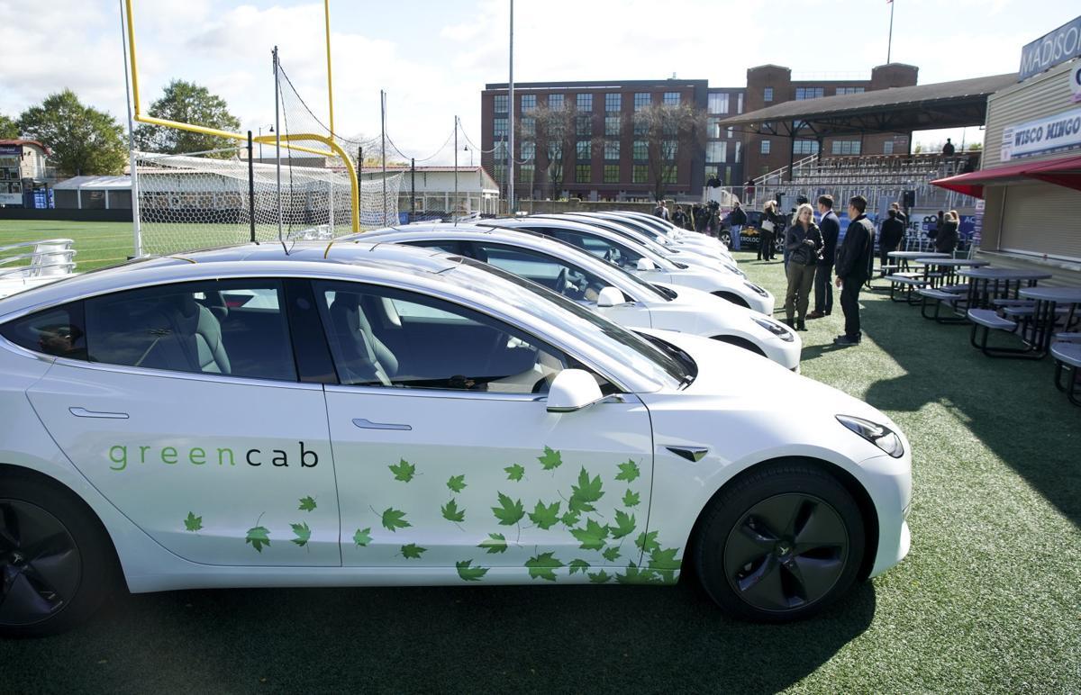 Green Cab Tesla 2