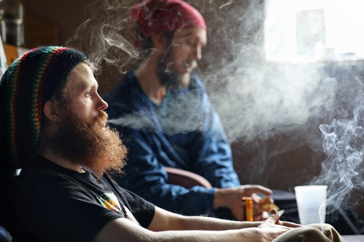 Bangert and Schworck smoking (copy)
