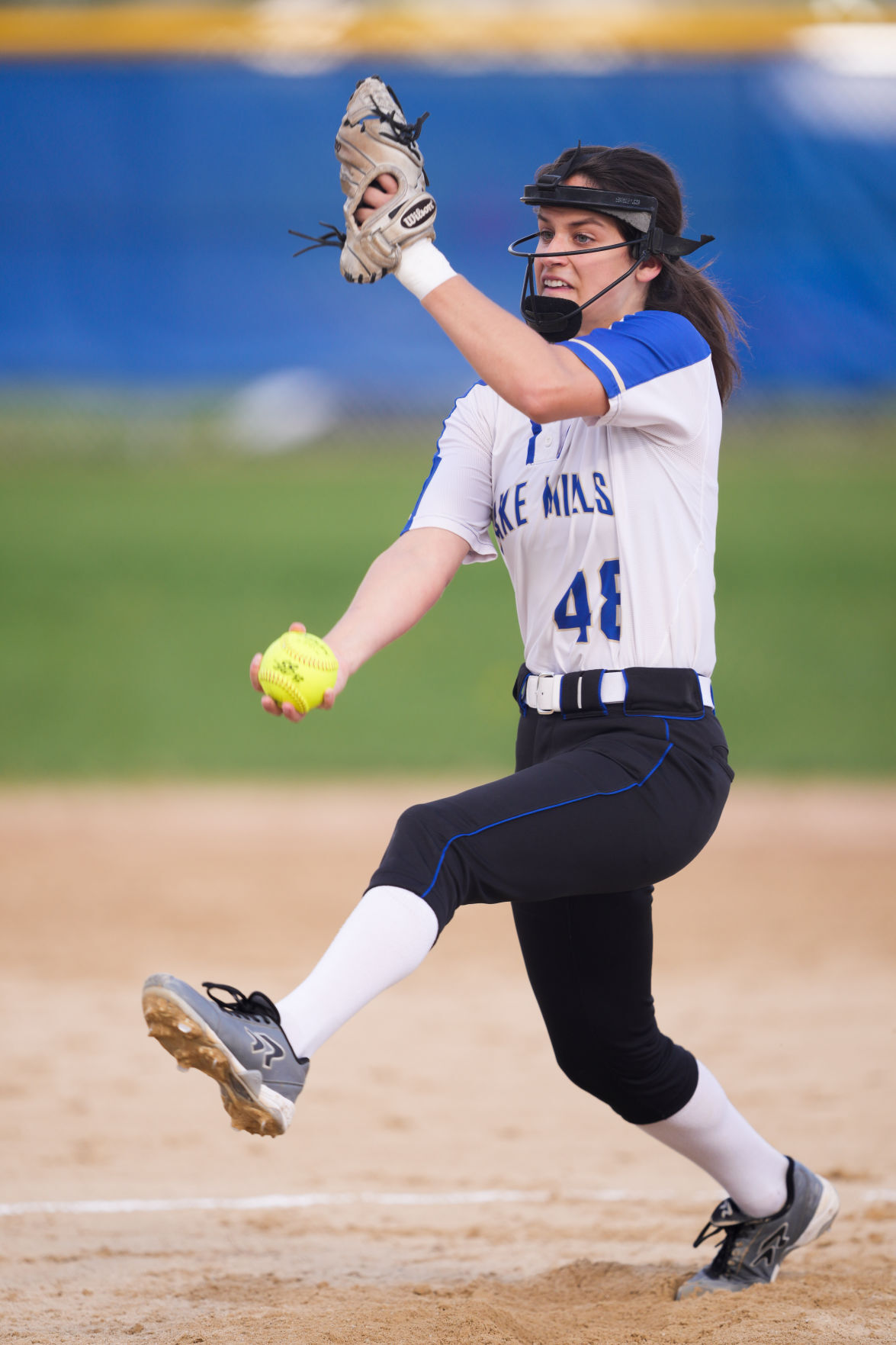 Prep softball photo: Taylor Roughen winds up against Lodi