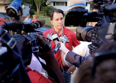 Scott Walker, Fourth of July parade, State Journal photo