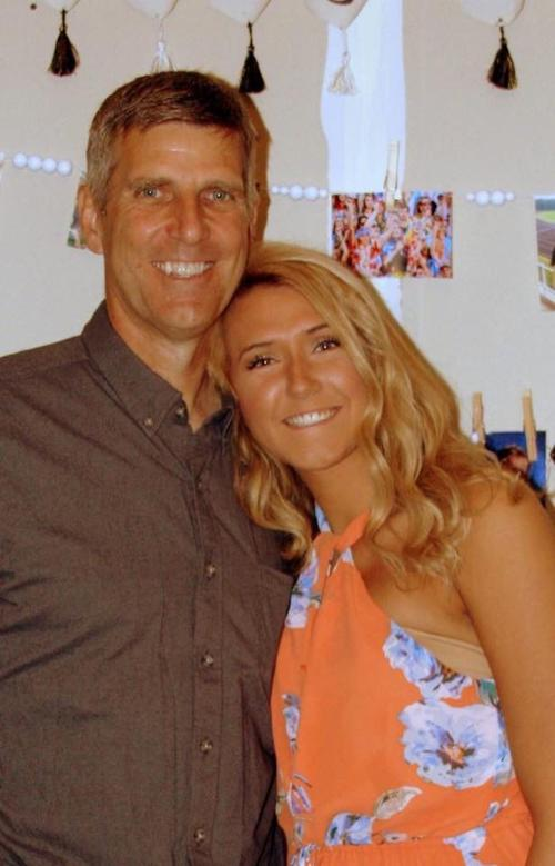 Luehring father-daughter photo