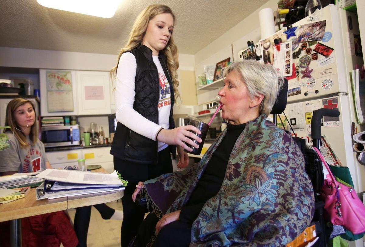 Sarah and Karen drinking (copy)