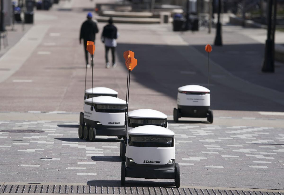 Robots Deliver Food And Relief To Uw Students Still On Campus During Covid 19 Pandemic Higher Education Madison Com