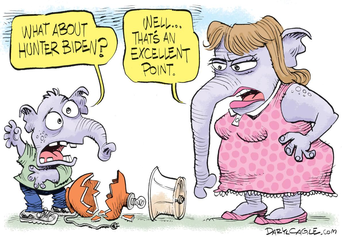The Hunter Biden Defense Works Again In Daryl Cagle S Latest Political Cartoon Opinion Cartoon Madison Com