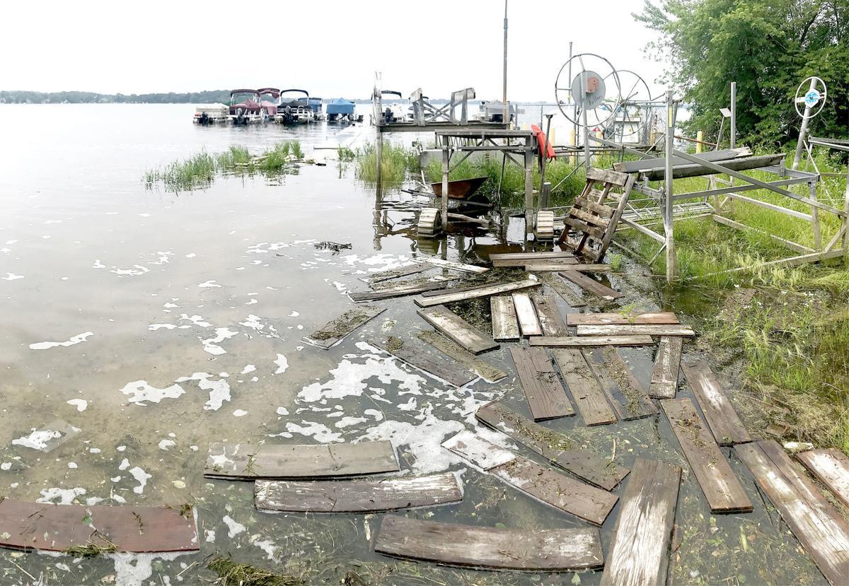 Boats, piers in peril as Lake Kegonsa's rising waters wreak