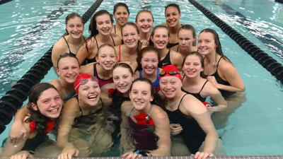 Prep girls swimming photo: Big Eight champion Sun Prairie