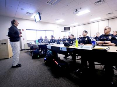 Madison Police recruits in class