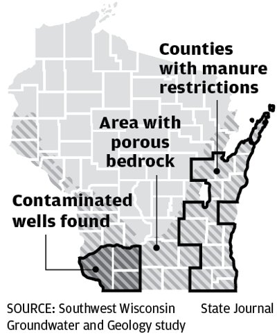 Contaminated well map