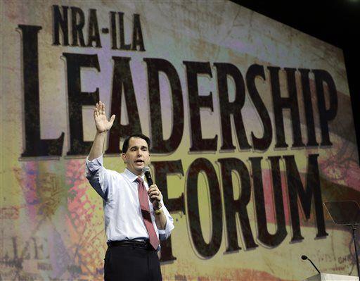 Scott Walker discusses gun ownership