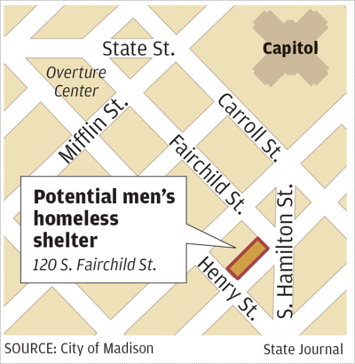Potential men's homeless shelter