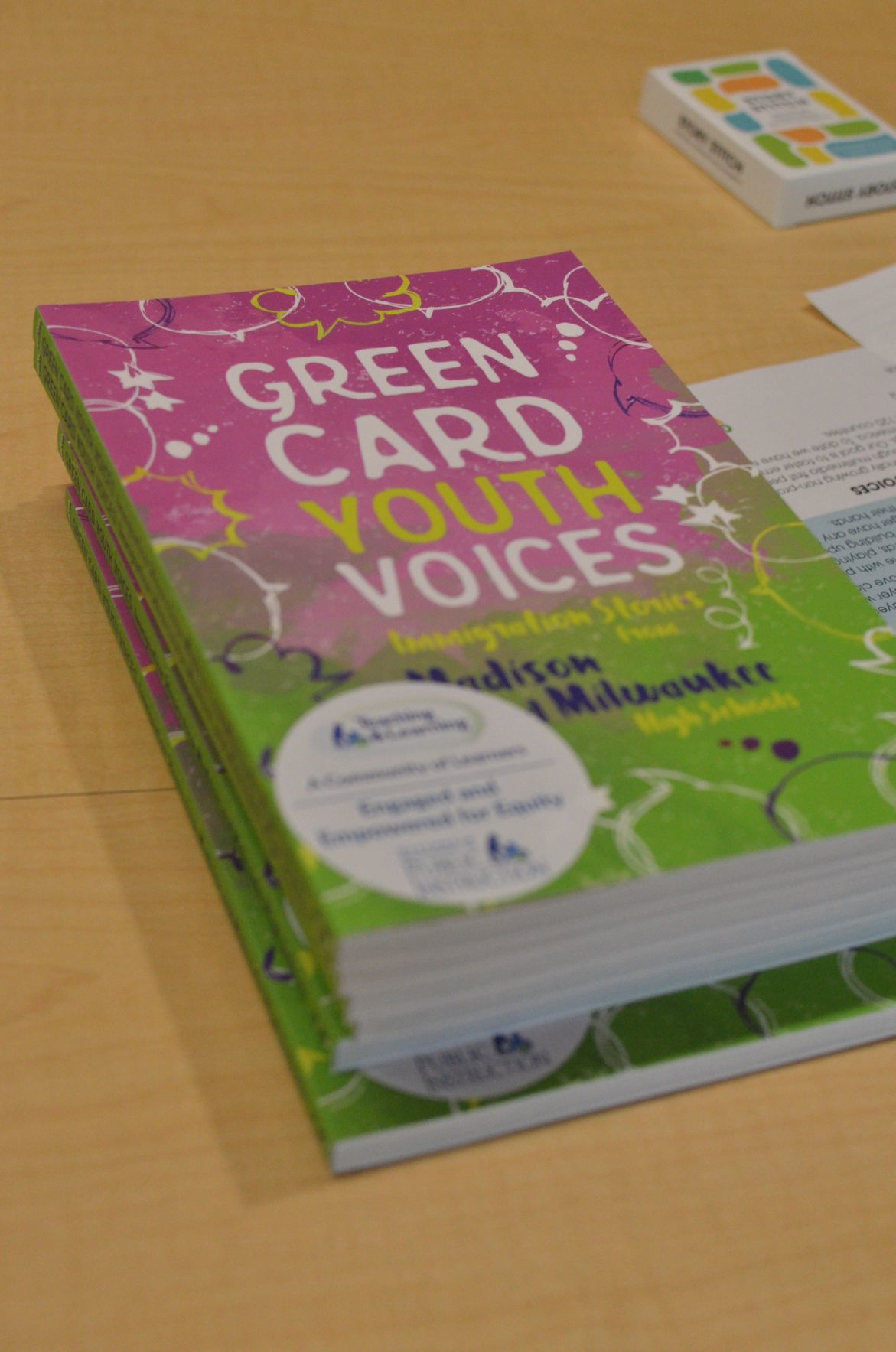 Green Card Youth Voices Book