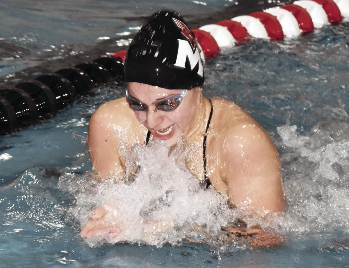 Prep girls swimming photo: Middleton's Ally Silvestri competes in the 300-yard breaststroke relay