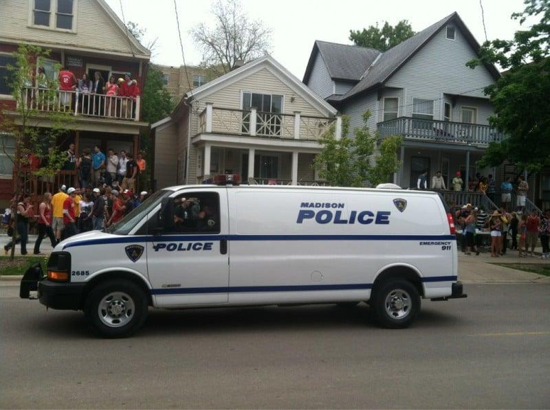mifflin street block party police van 5/5/12