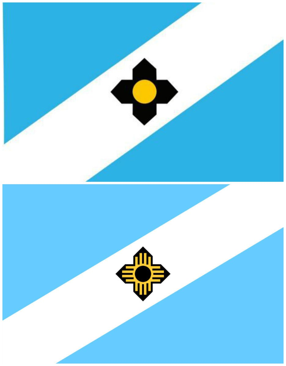 Madison city flag, old and new