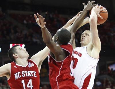 Jon Leuer, Jordan Vandenberg, DeShawn Painter UW men's basketball vs. N.C. State