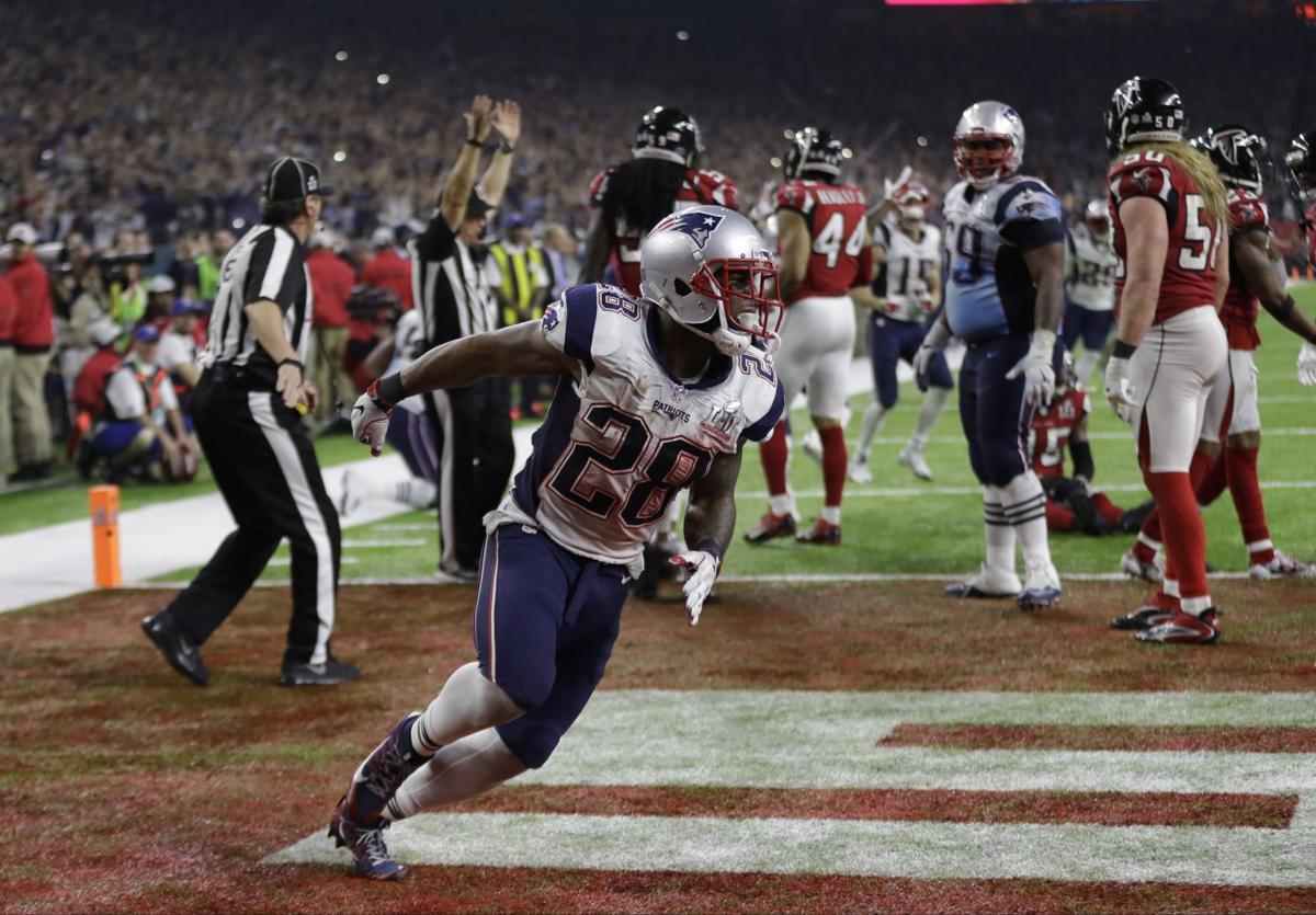 James White scores winning Super Bowl TD, AP history