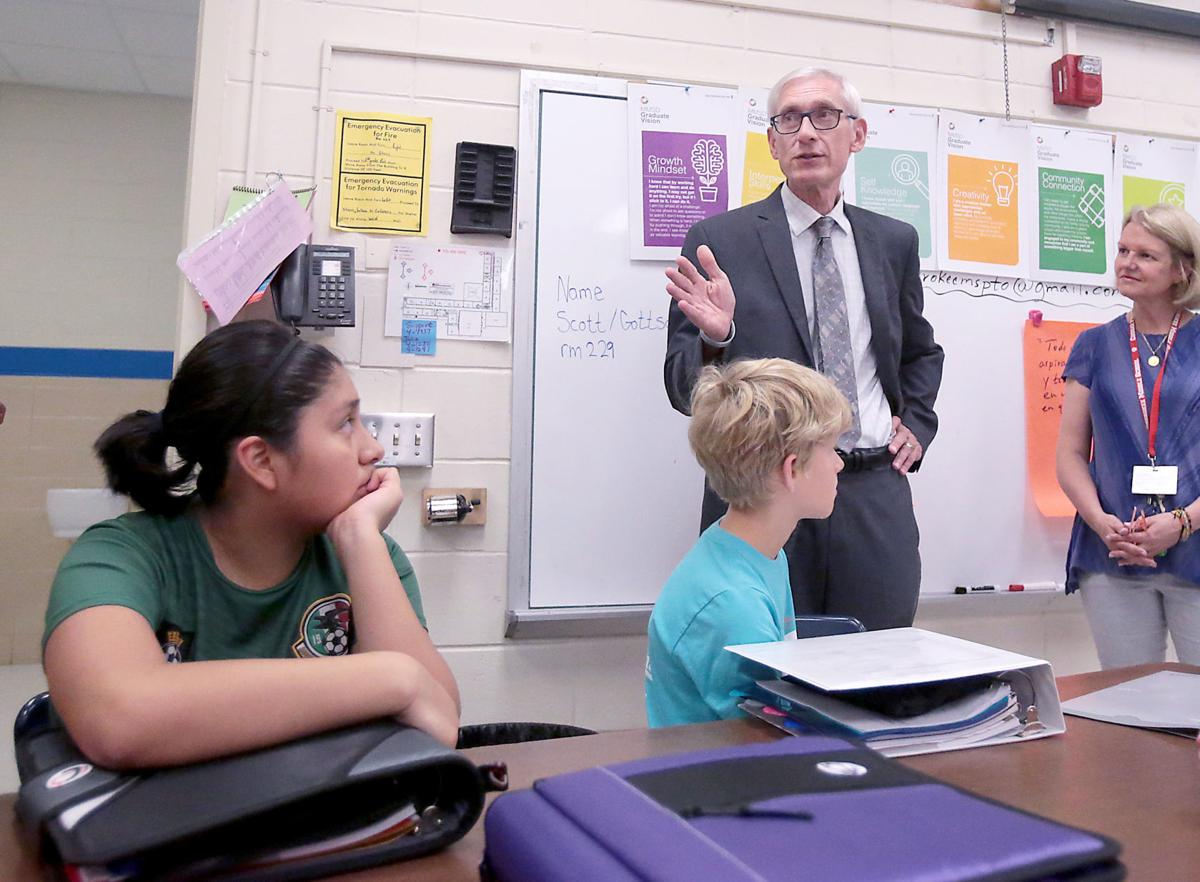 Tony Evers has sought more aid for K-12 schools