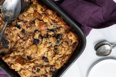 Bourbon for breakfast? Try this warm, custardy bread pudding to elevate your morning​