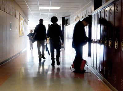 Wright Middle School hallway (copy) (copy)