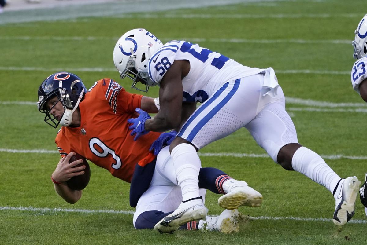 Nick Foles tackled, AP file photo