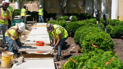 Newly renovated Rose Garden under repair less than 3 weeks after unveiling