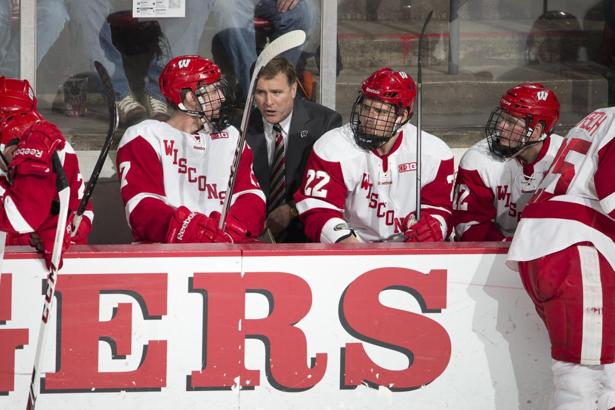 Mike Eaves on bench, UW photo