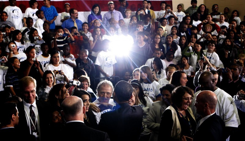 Obama at Wright Middle School